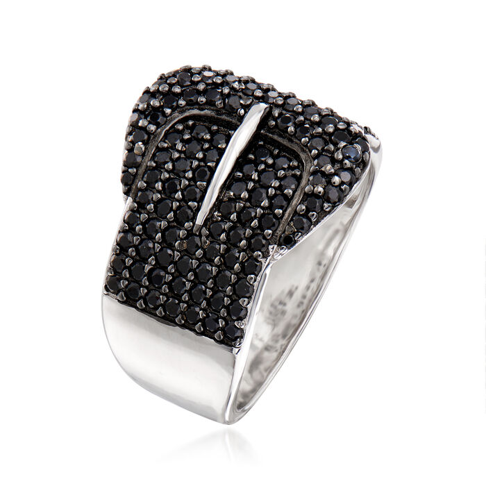 1.51 ct. t.w. Black Spinel Ring in Sterling Silver