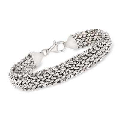 Italian Multi-Link Bracelet in Sterling Silver, , default