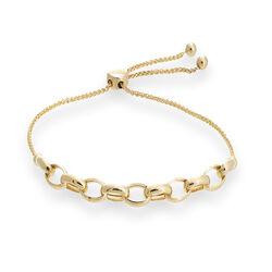 14kt Yellow Gold Rolo Link Bolo Bracelet, , default