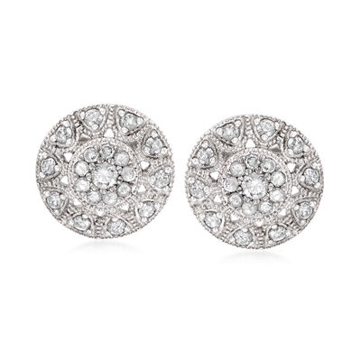 .50 ct. t.w. Diamond Stud Earrings in Sterling Silver