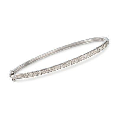 .55 ct. t.w. Pave Diamond Bangle Bracelet in Sterling Silver