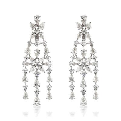 7.75 ct. t.w. Diamond Chandelier Earrings in 18kt White Gold