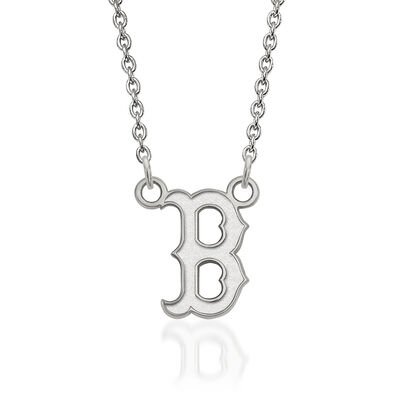 "Sterling Silver MLB Boston Red Sox Pendant Necklace. 18"", , default"