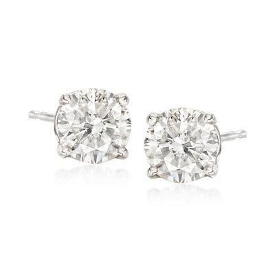 1.50 ct. t.w. Diamond Stud Earrings in 18kt White Gold, , default