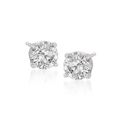 1.60 ct. t.w. Synthetic Moissanite Stud Earrings in 14kt White Gold, , default