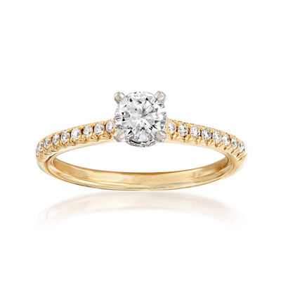 .65 ct. t.w. Diamond Engagement Ring in 14kt Yellow Gold, , default