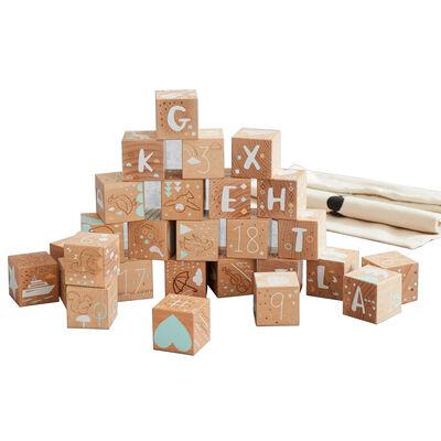 Baby's Keepsake Etched Beechwood Blocks