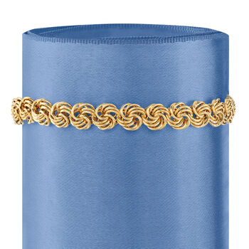 14kt Yellow Gold Rosette-Link Bracelet
