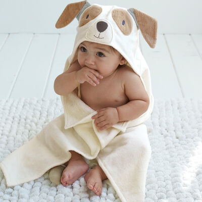 Elegant Baby Hooded Puppy Personalized Bath Towel , , default
