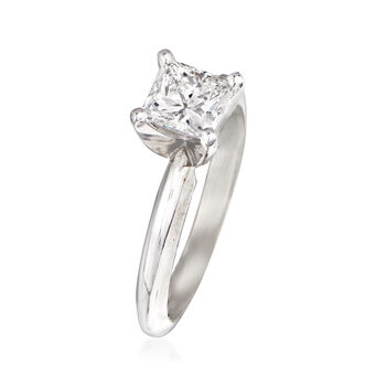 .90 Carat Diamond Engagement Ring in 14kt White Gold. Size 6