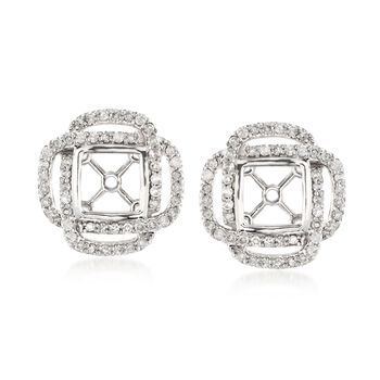 .50 ct. t.w. Diamond Square Earring Jackets in 14kt White Gold, , default