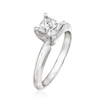 .82 Carat Certified Diamond Engagement Ring in 14kt White Gold. Size 6