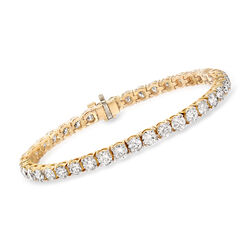 10.00 ct. t.w. Diamond Tennis Bracelet in 14kt Yellow Gold, , default