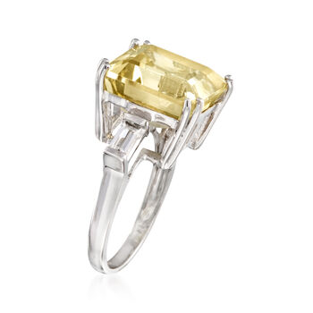 10.60 ct. t.w. Lemon and White Topaz Ring in Sterling Silver, , default
