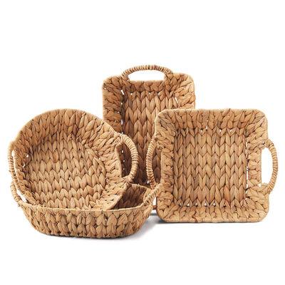 Set of 4 Assorted Hyacinth Handled Baskets