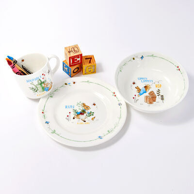 Wedgwood Peter Rabbit Boy's Three-Piece Dinnerware Set, , default