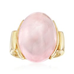 Rose Quartz Ring in 14kt Yellow Gold Over Sterling Silver, , default