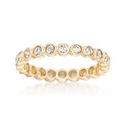 .60 ct. t.w. Bezel-Set CZ Eternity Band in 14kt Yellow Gold, , default