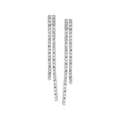 1.00 ct. t.w. Diamond Linear Drop Earrings in 14kt White Gold