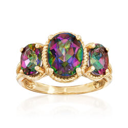 4.70 ct. t.w. Multicolored Topaz Ring in 14kt Yellow Gold, , default