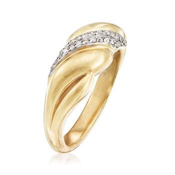 .13 ct. t.w. Diamond Sash Ring in 14kt Yellow Gold