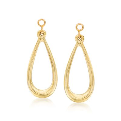 14kt Yellow Gold Open Teardrop Earring Jackets, , default