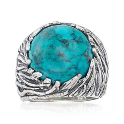 Turquoise Nature-Inspired Ring in Sterling Silver, , default