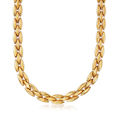 C. 1980 Vintage Cartier 18kt Yellow Gold Link Necklace