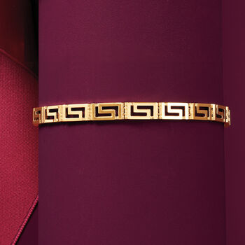 14kt Yellow Gold Greek Key Bracelet, , default