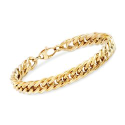 Italian 14kt Yellow Gold Curb-Link Style Bracelet, , default