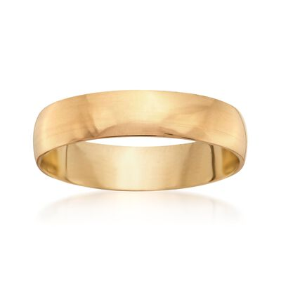 Men's 5mm 14kt Yellow Gold Wedding Ring, , default