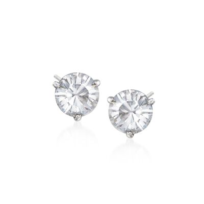"Swarovski Crystal ""Solitaire"" Crystal Stud Earrings  , , default"
