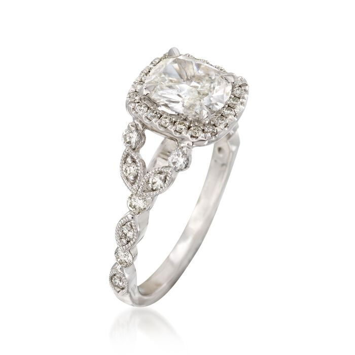 Henri Daussi 1.52 ct. t.w. Certified Diamond Engagement Ring in 18kt White Gold