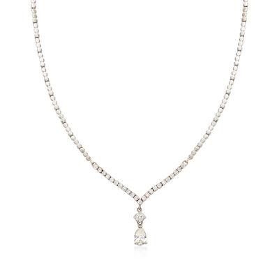 C. 1990 Vintage 2.15 ct. t.w. Diamond Drop Necklace in 18kt White Gold, , default