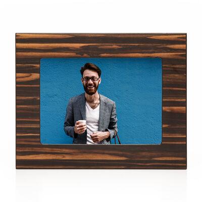 Brouk & Co. 5x7 Brown Matte Ebony Wooden Picture Frame, , default