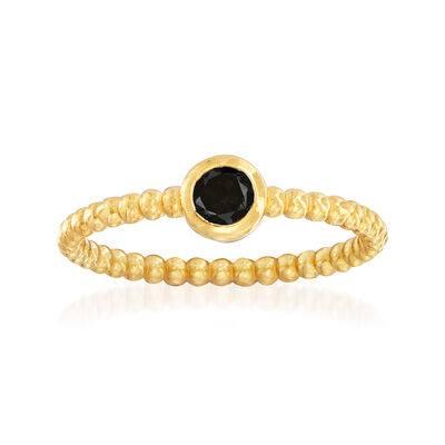 "Phillip Gavriel ""Popcorn"" .20 Carat Black Spinel Beaded Ring in 14kt Yellow Gold, , default"