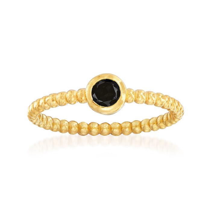 "Phillip Gavriel ""Popcorn"" .20 Carat Black Spinel Beaded Ring in 14kt Yellow Gold, , default"