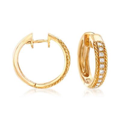 .44 ct. t.w. Diamond Hoop Earrings in 14kt Yellow Gold, , default