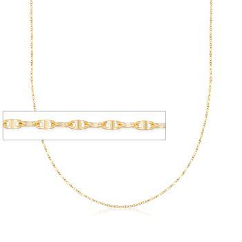 Italian 1mm 18kt Yellow Gold Lumachina Chain Necklace, , default