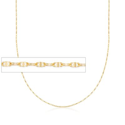 Italian 1mm 18kt Yellow Gold Lumachina Chain Necklace, , default