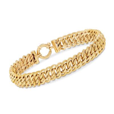 Italian Americana Link Bracelet in 14kt Yellow Gold, , default