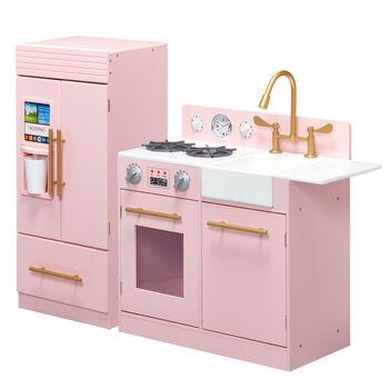 Child's Little Chef Chelsea Modern Play Kitchen in Pink, , default