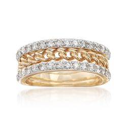 1.00 ct. t.w. Diamond Link Ring in 14kt Yellow Gold, , default