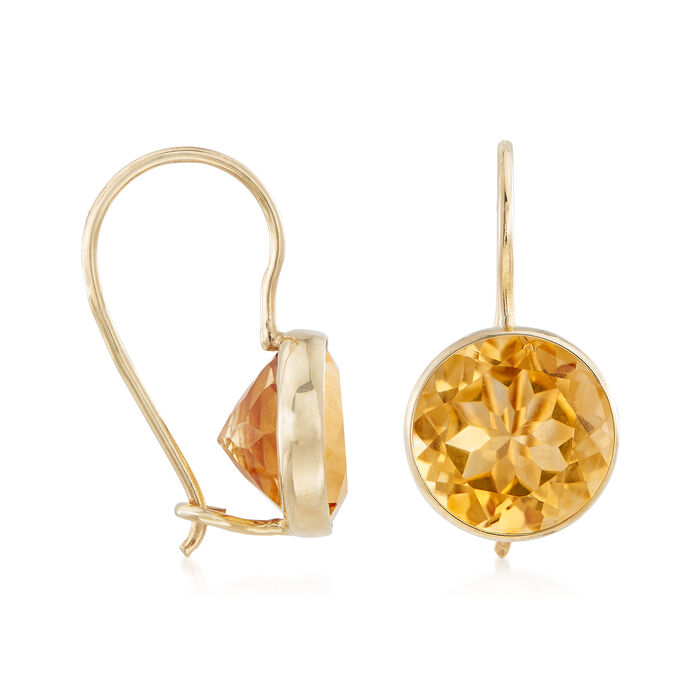 3.20 ct. t.w. Citrine Drop Earrings in 14kt Yellow Gold
