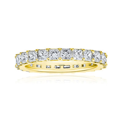 1.90 ct. t.w. Princess-Cut Diamond Eternity Band in 14kt Yellow Gold, , default