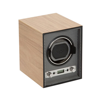 "Wolf ""Meridian"" Blonde Wood Single Watch Winder , , default"