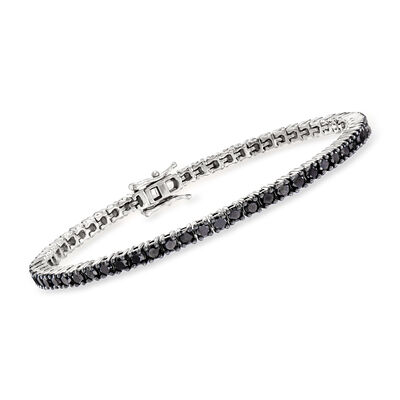 5.00 ct. t.w. Black Diamond Tennis Bracelet in Sterling Silver
