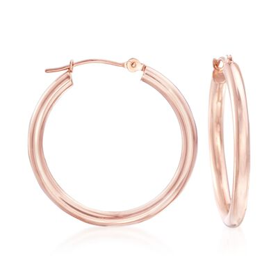 2.5mm 14kt Rose Gold Hoop Earrings