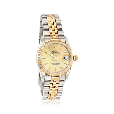Pre-Owned Rolex Datejust Women's 31mm Automatic Watch in Two-Tone, , default