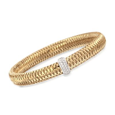 "Roberto Coin ""Primavera"" .18 ct. t.w. Diamond Bangle Bracelet in 18kt Two-Tone Gold, , default"